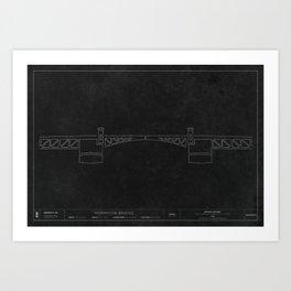Morrison Bridge — Darkprint Art Print