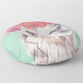 Flower Crown Llama Floor Pillow
