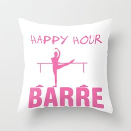 Ballet Dancer Barre Quote  Graphic Throw Pillow