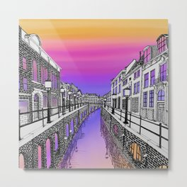 Colorful Canal  Metal Print