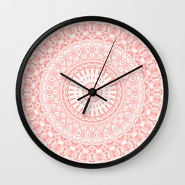 Living Coral Mandala Wall Clock