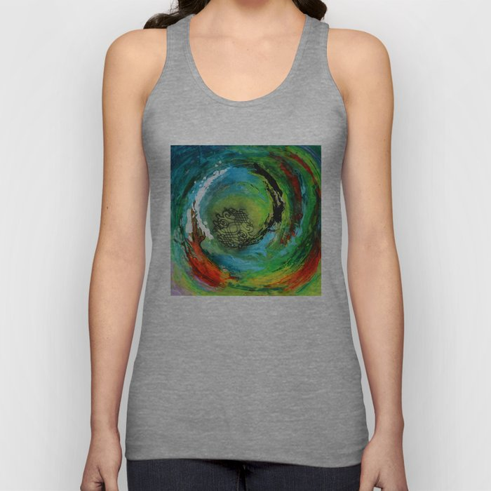 Maelstrom, captivating abstract painting Unisex Tank Top