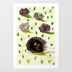 I Stuck in the Stone!!! Art Print