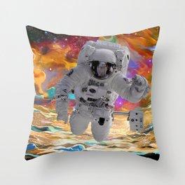 Cosmic Galaxy Astronaut Throw Pillow