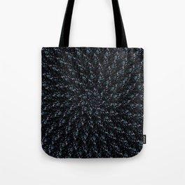 Fractal Ice Flower Pattern Tote Bag