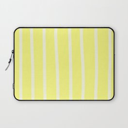 Butter Vertical Brush Strokes Laptop Sleeve