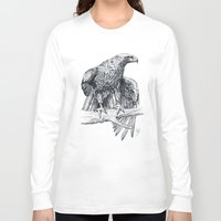 falcon Long Sleeve T-shirts featuring Falcon illustration by Thubakabra