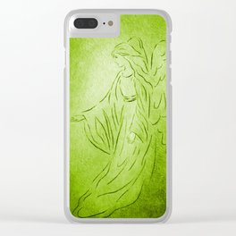 Angel of Healing - Abstract Angel Picture Clear iPhone Case