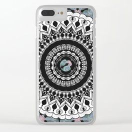 Mandala with Floral Watercolor Pattern Clear iPhone Case