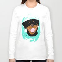 rottweiler Long Sleeve T-shirts featuring Rottweiler graphic on Mint by Moni & Dog