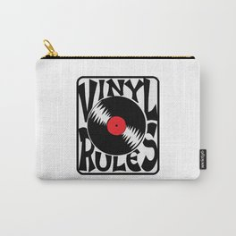 Vinyl Rules Music Quotes Carry-All Pouch