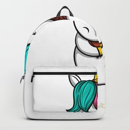 Pink Unicorn Playing Violin Rainbow Girl Design Backpack