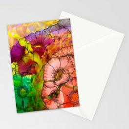 Modern Flowers and Shapes - Mixed Media Stationery Cards