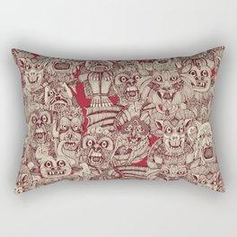 gargoyles red Rectangular Pillow