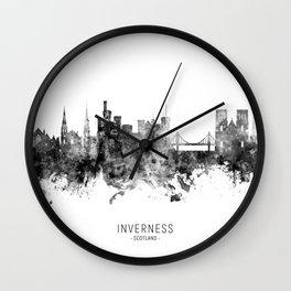 Inverness Scotland Skyline Wall Clock