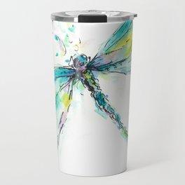 Watercolor Dragonfly Travel Mug