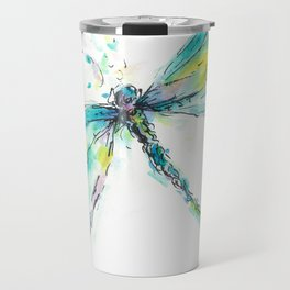Watercolor Dragonfly Travel Mug