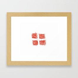 flag Switzerland 4-,Swiss,Schweizer, Suisse,Helvetic,zurich,geneva,bern,godard,heidi Framed Art Print