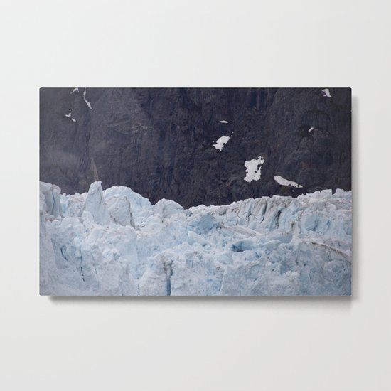 Glacier: Blue Ice Metal Print
