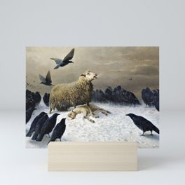 12,000pixel-500dpi - Anguish - August Friedrich Albrecht Schenck Mini Art Print