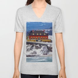 Le Chateau and the Sea Unisex V-Neck