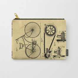 Bicyole Support Patent Drawing From 1890 Carry-All Pouch