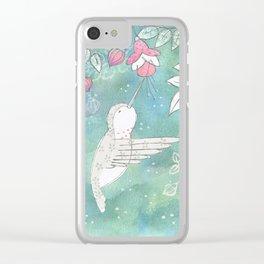 Hummingbird's Garden: In the fuschias Clear iPhone Case