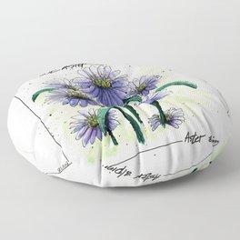Alpine Aster Floor Pillow
