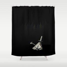 Statue Bill Shower Curtain