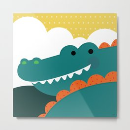 Crocodile rock Metal Print