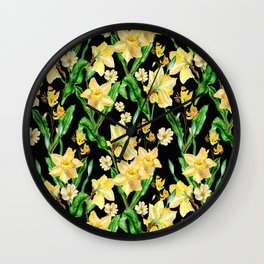 Narcissus' Garden Wall Clock