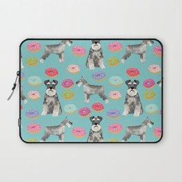 Schnauzer dog breed donuts doughnut pet art schnauzers pure breed gifts Laptop Sleeve