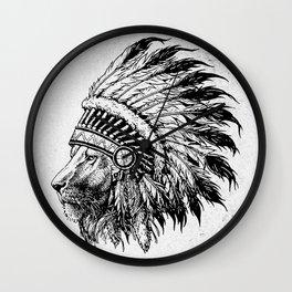 Lion Tribal Wall Clock
