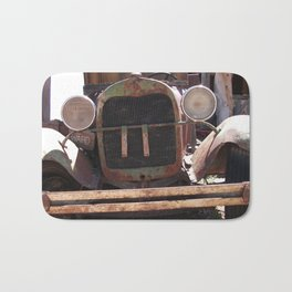 Truck Grill, Old Truck Grill, Vintage, Antique Truck Bath Mat