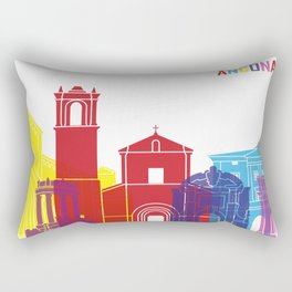 Ancona skyline pop Rectangular Pillow