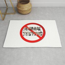 No Animal Testing Sign Rug