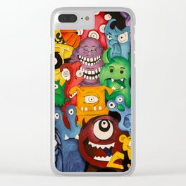 Monsters in My Closet Clear iPhone Case