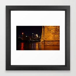 Minneapolis Stone Arch Bridge Framed Art Print