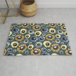 Scabiosa floral pattern 1 Rug
