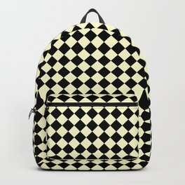 Black and Cream Yellow Diamonds Backpack
