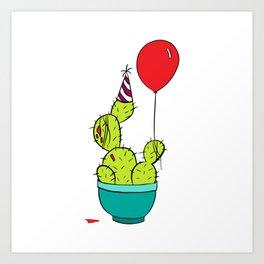 Party Cactus Art Print