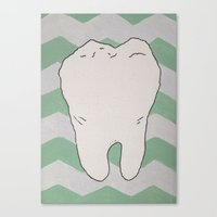 tooth Canvas Prints featuring Tooth by Jazzmatazz
