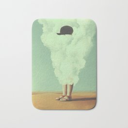 Magritte's Bowler Hat Bath Mat