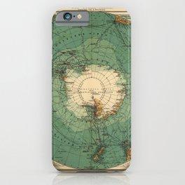 Map of Antarctica from 1912 (Süd-Polar-Karte) iPhone Case