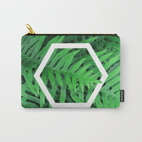 Exagon into the ferns Carry-All Pouch