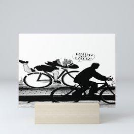 Black and White Street Photography, Bike and Graffiti, Rebeldia con Locura, Mexico Mini Art Print