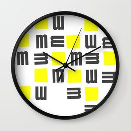 Typographical Abstract  Design Wall Clock