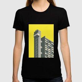 Trellick Tower London Brutalist Architecture - Yellow T-shirt