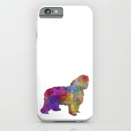 Polish Lowland Sheepdog in watercolor iPhone Case
