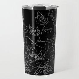 Negative space flowers Travel Mug